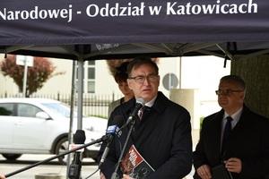 """Prezes IPN drJarosław Szarek. Otwarcie wystawy """"Walka oduszę narodu..."""" Fot.K. Liszka"""
